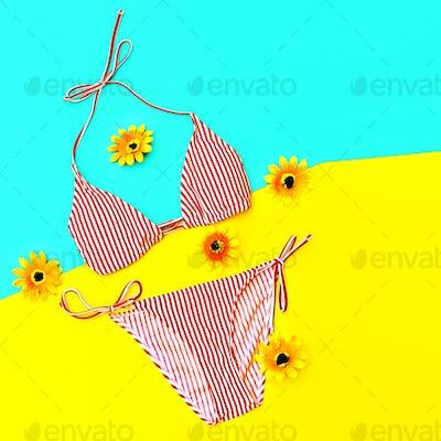 Beach time. Vacation. Stylish Bikini for Lady