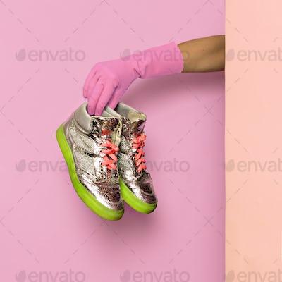 Stylish clothes. Footwear. Glamorous sneakers. wardrobe ideas tr