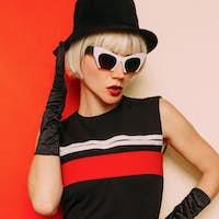 Lady Retro Style Cabaret vintage clothing. Minimal Fashion. Stri