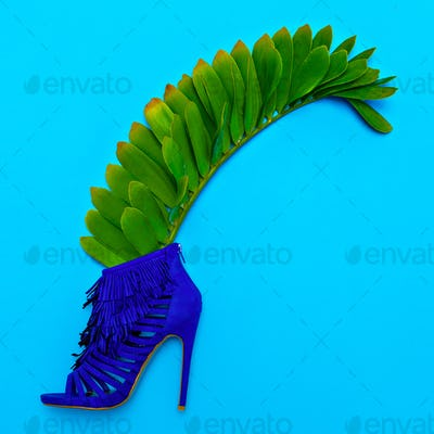 Shoes heels. Stylish minimal design. Fashion concept