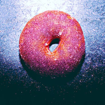 Glitter Donut Fashion Shining fast food concept Minimal Design
