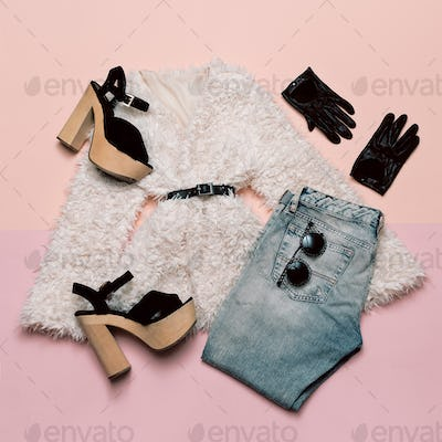 Fashionable outfit For every day. Stylish Spring Women's Accesso