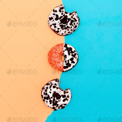 Set Donuts Mix eat me minimal design creative art