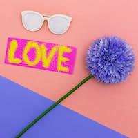 Summer Vibes set Sunglasses Minimal style art