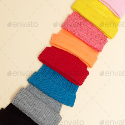 Minimalism style hipster fashion Caps Beanie Set