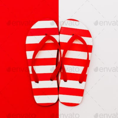 Flip-flops. Let's go to the beach. Minimal design