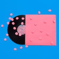 Vinyl. Retro Art Design