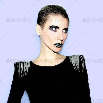 Girl Hair Trend Gothic style fashion