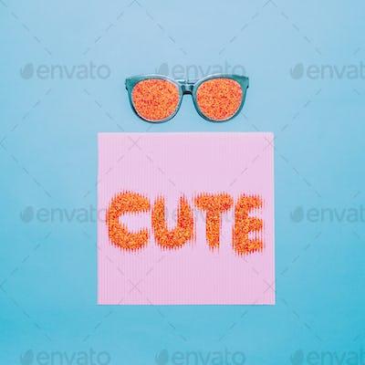 Be cute. Sunglasses fashion minimal art