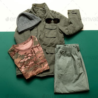 Clothing Set Military Soldier Outfit style Minimalism fashion