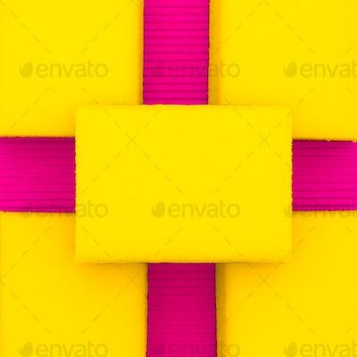 Background of sponges. Minimal art design.