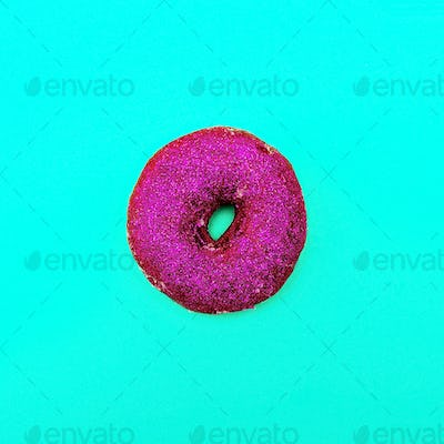 Fashion Donut in glitter Minimal Art Still Life Details