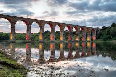Royal Border Bridge at Baerwick on Tweed