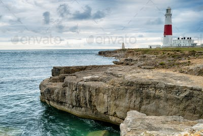 Moody Sky over Portland Bill Lighthouse