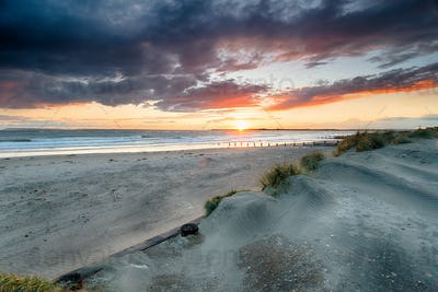 Stormy Sunset at West Wittering
