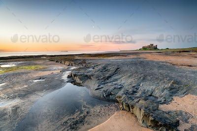 The Beach at Bamburgh Castle