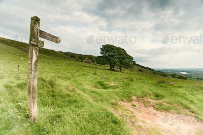 Footpath Sign in the Peak District