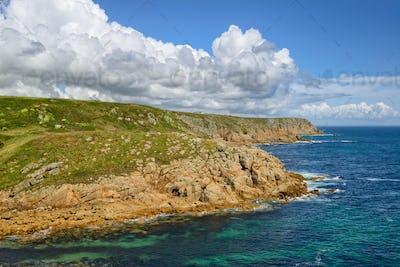 Cliffs at Porthgwarra in Cornwall