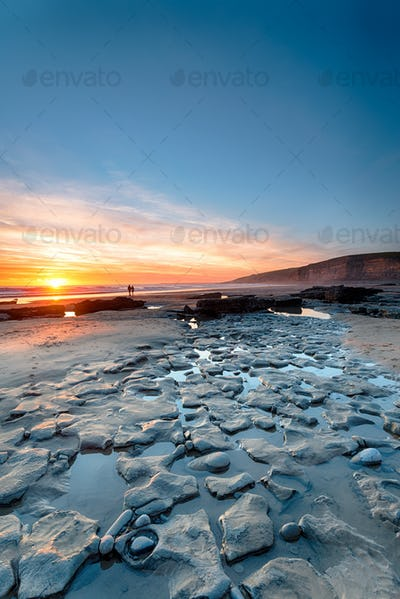 Sunset at Dunraven Bay