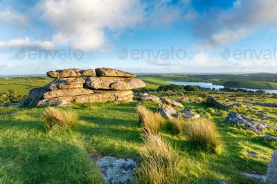 The View From Tregarric Tor in Cornwall