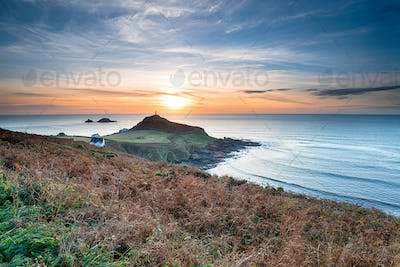 Sunset over Cape Cornwall