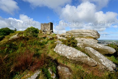The Castle at carn Brea in Cornwall