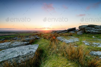 April Sunset on Bodmin Moor