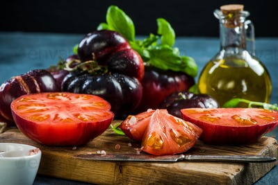 Crimea tomatoes halves for fresh salad