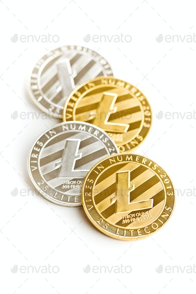 Litecoin. Digital cryptocurrency.