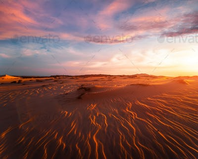 Stunning view of lonely sand dunes