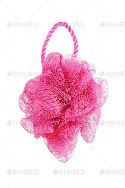 Red Nylon Mesh Flower