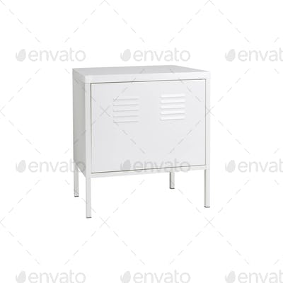 Locker Isolated on a White Background