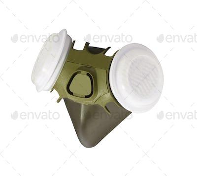Respirator isolated on white background
