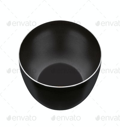 metal pot isolated on white