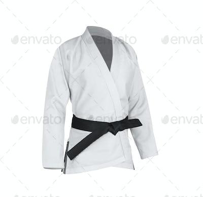 Judogi with black belt