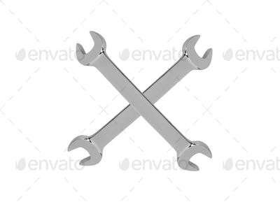 Wrench isolated on white background