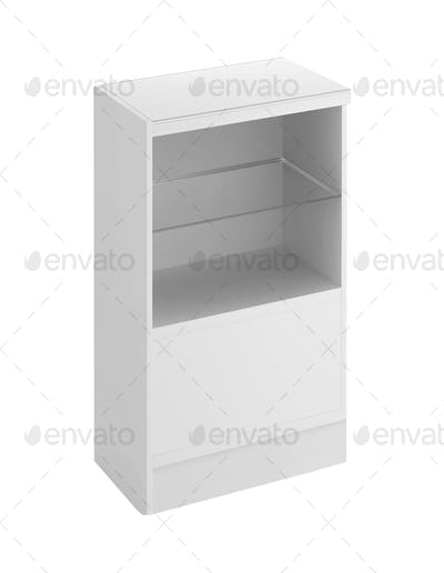wooden cabinetisolated on white background