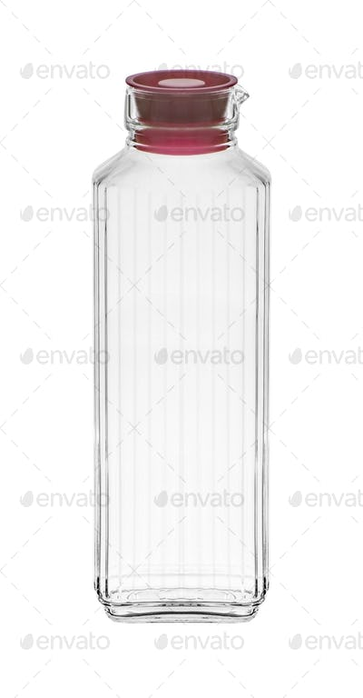 glass bottle isolated on white background