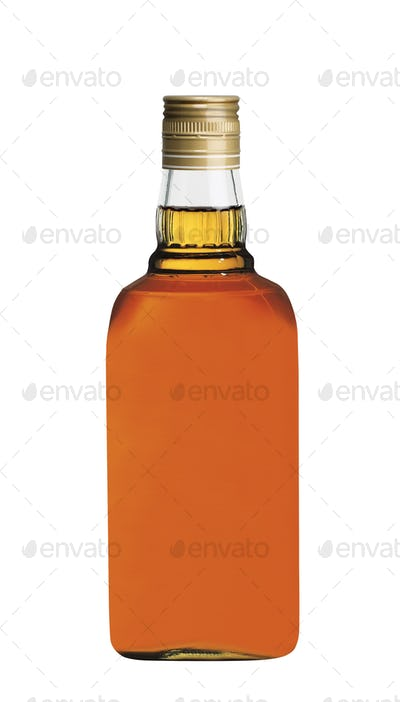 wisky bottle isolated on white