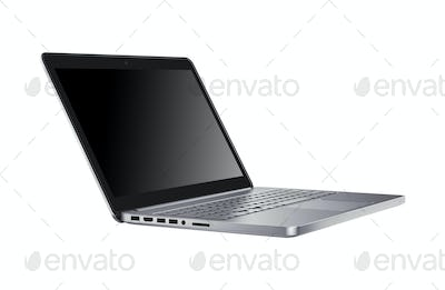 Open notebook isolated