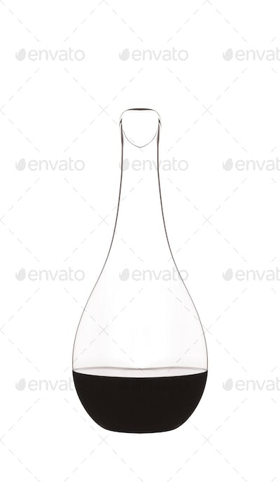 Erlenmeyer flask isolated on white