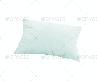 blue pillow isolated on white background