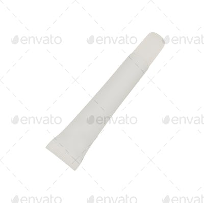 White tube for cream isolated