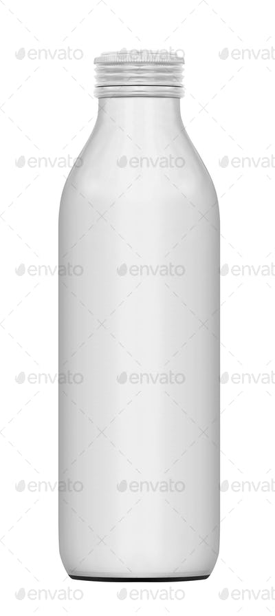 Bottle of milk isolated on white background