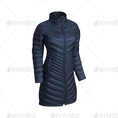 blue jacket isolated on white