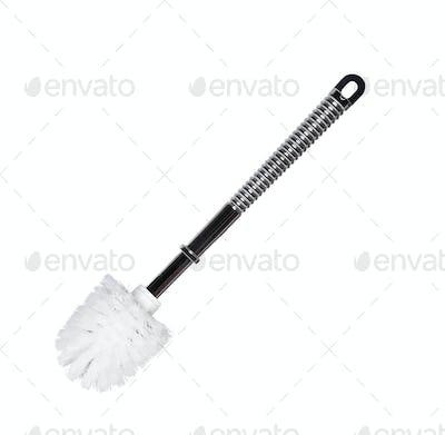 Toilet brush isolated on white