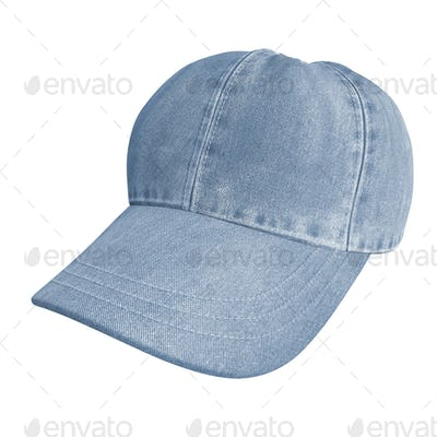 blue jeans cap on white