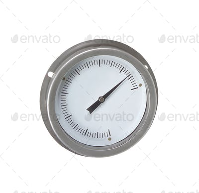 Metal analogue barometer isolated