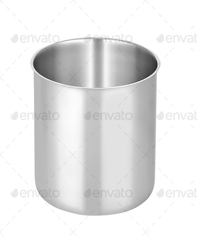 metal pot isolated on white background