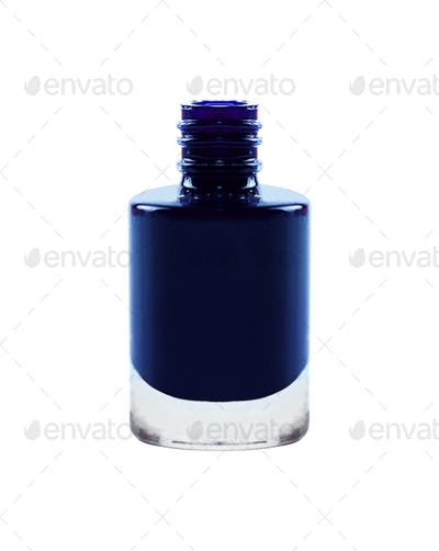 Purple nail polish isolated on white